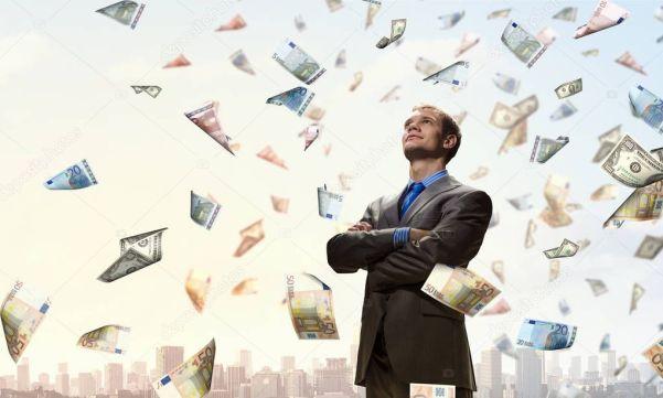 Je suis un homme riche.  Technique mixte ⬇ Stock photo, image by © SergeyNivens # 129625016