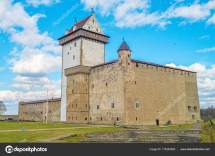 Herman Narva Castle Facade Estonia. Stock