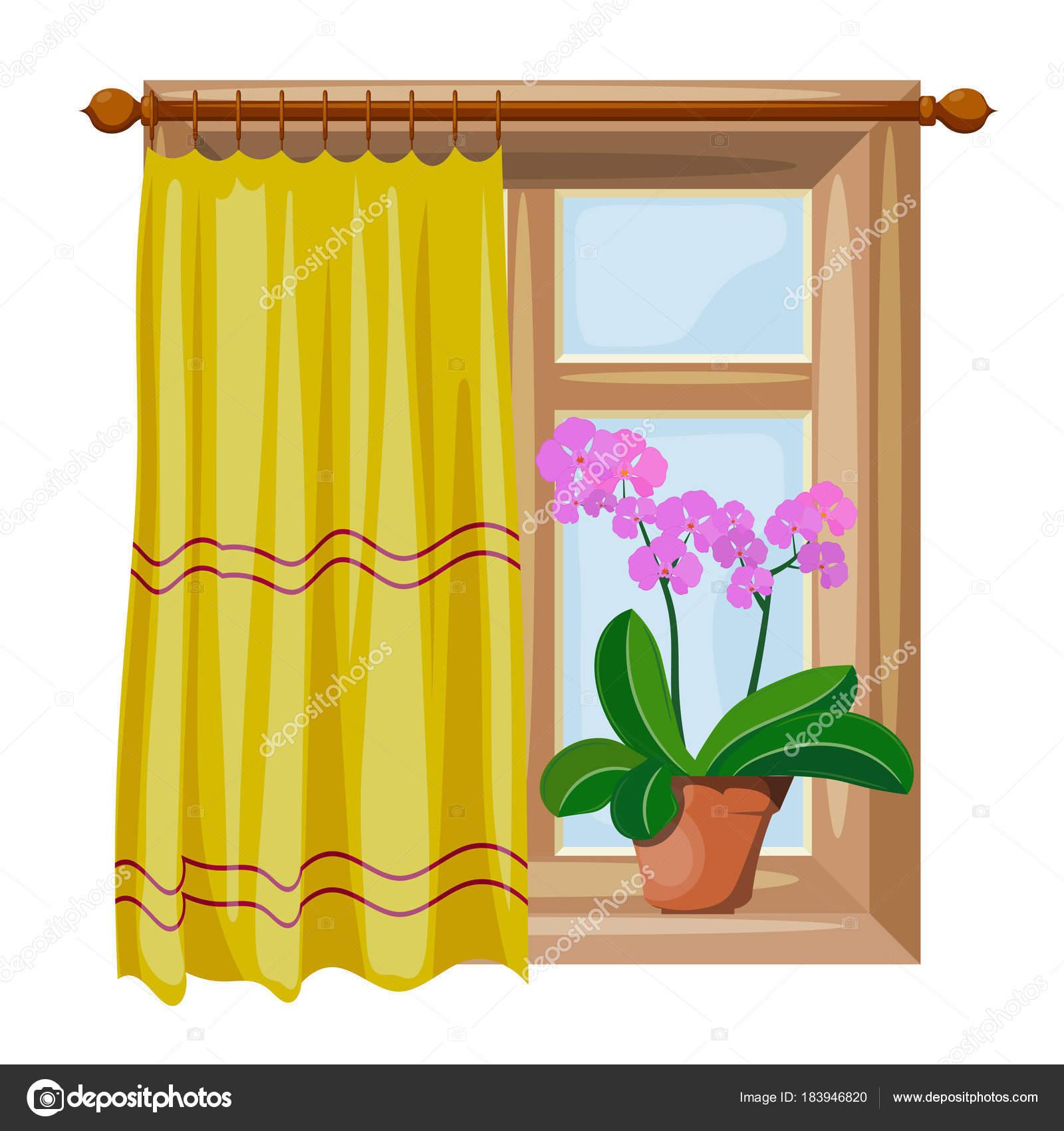 Color de ventanas de estilo de dibujos animados imagen con