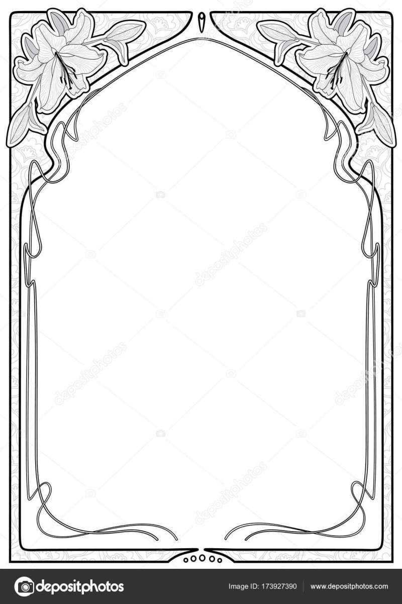 Decorative Frame With Art Nouveau