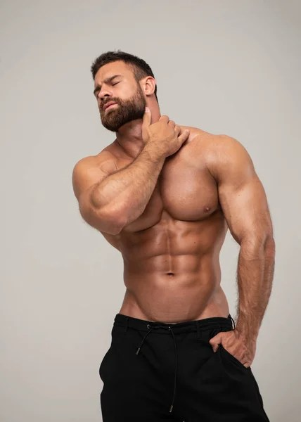 pic Hairy Muscle Guys hairy male bodybuilder stock photos