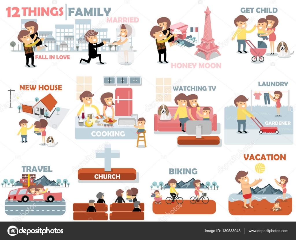 Beautiful Graphic Design Of Family,12 Things Of Family