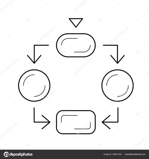 small resolution of flow diagram line icon stock vector