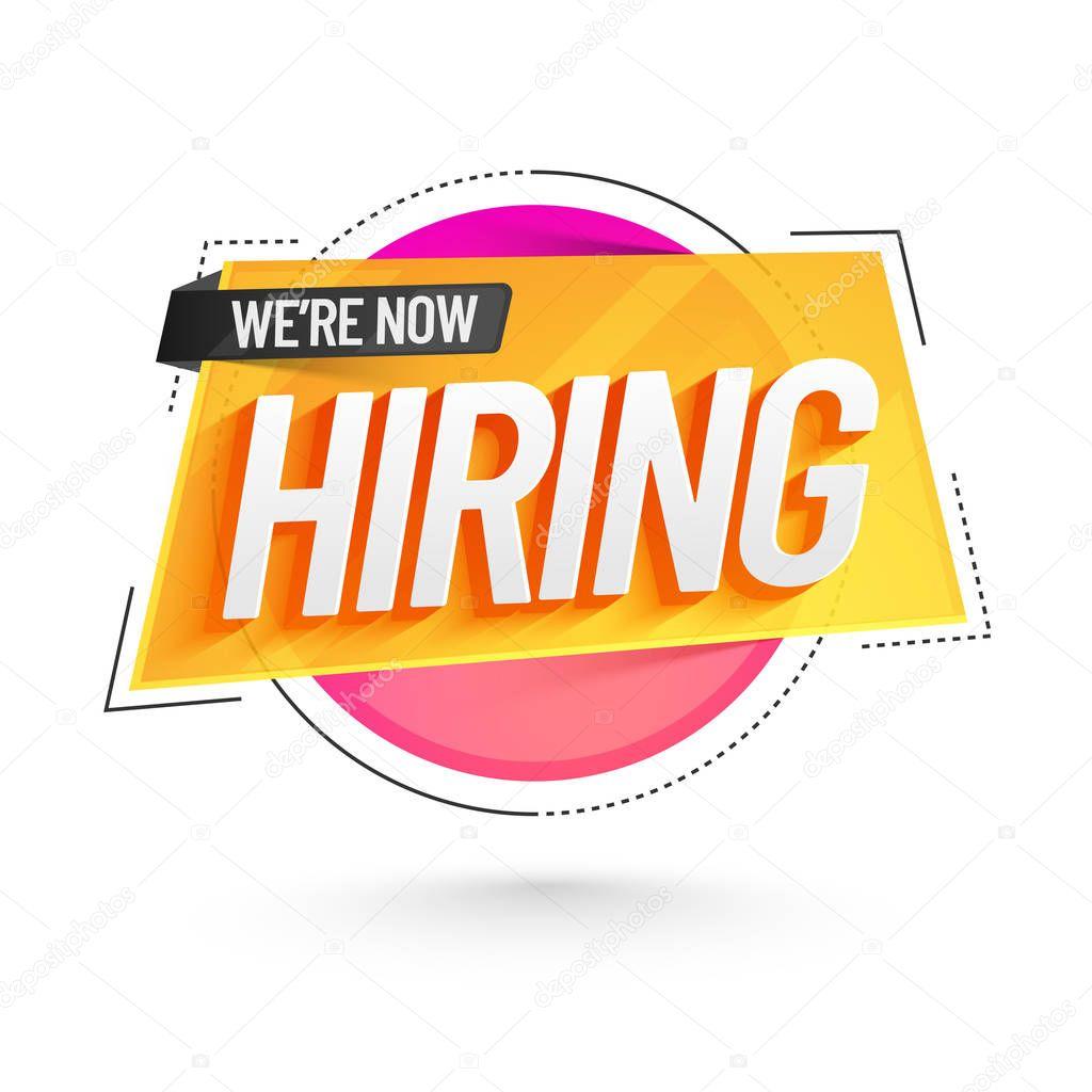 Job vacancy advertisement poster | We are Hiring Poster or Banner Design. Job Vacancy Advertisement — Stock Vector © alliesinteract #180569768