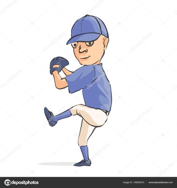Cartoon Baseball Player Stock Vector Chisnikov #159053514