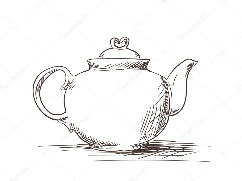 Szkic Dzbanek Do Herbaty