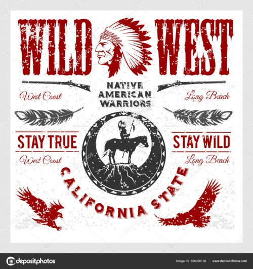 small resolution of set of wild west american indian designed elements monochrome style on light background vector by digital clipart