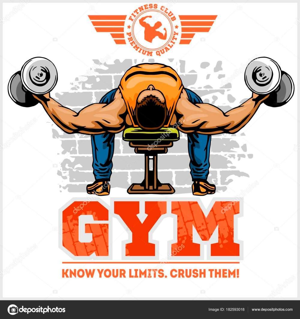 medium resolution of gym logo fitness center logo design template vector set vector by digital clipart