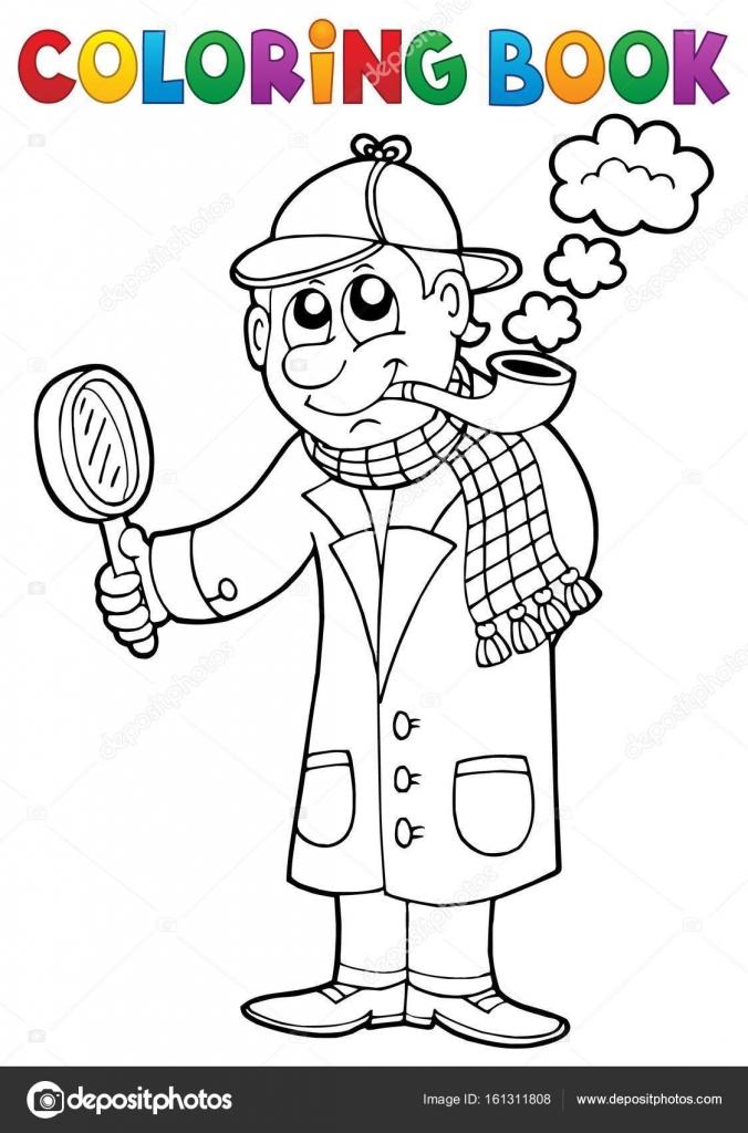 Malvorlage Detektiv