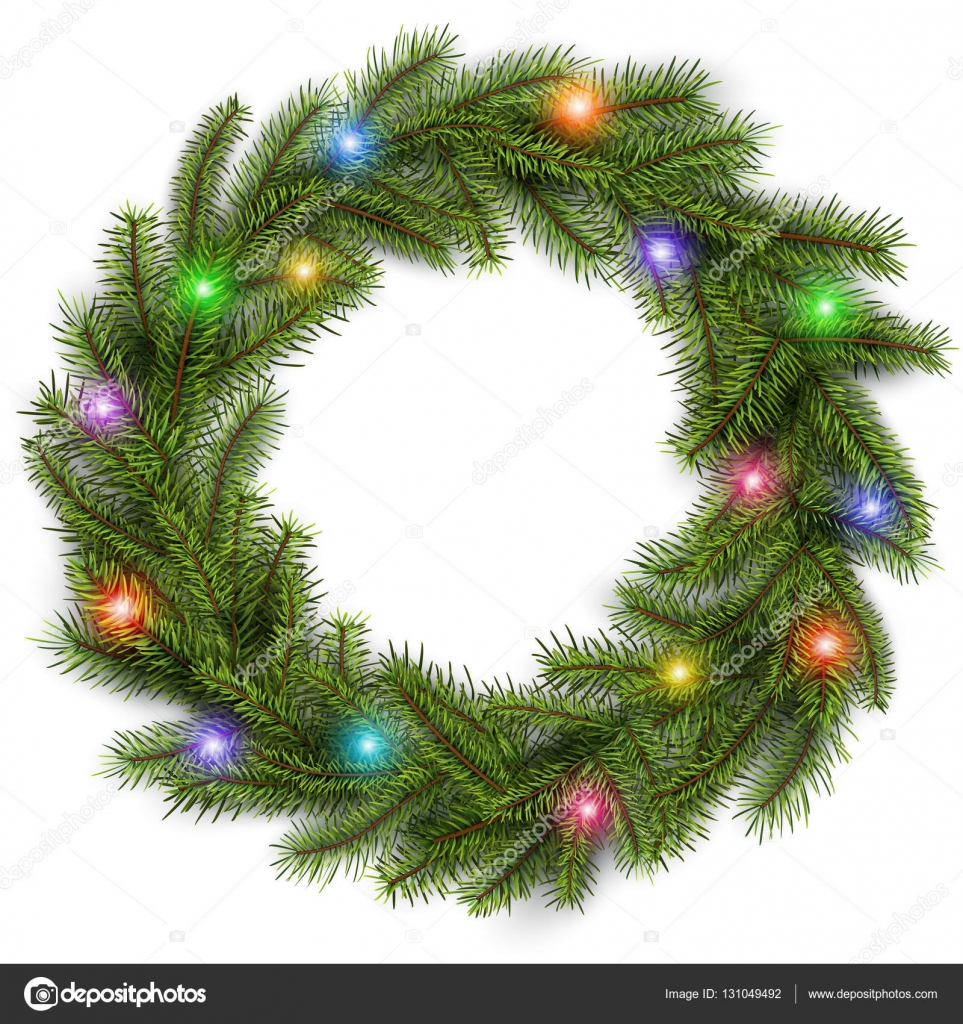 christmas wreath with colorful
