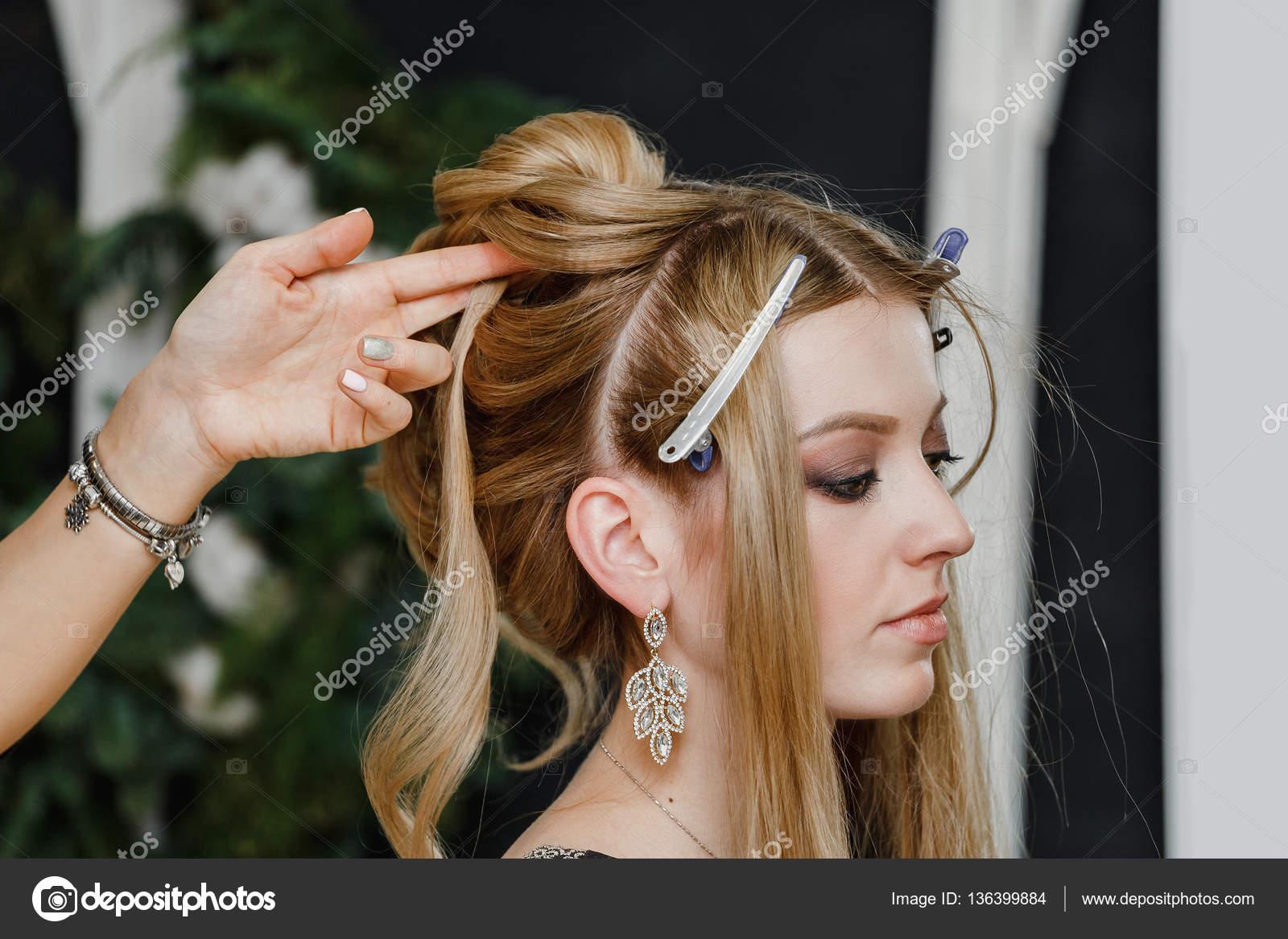Friseur Salon Erstellen Frisuren Vom Friseur Innenaufnahme