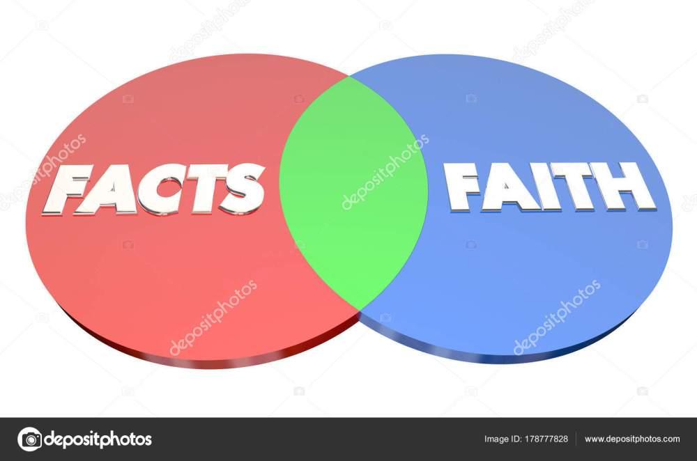 medium resolution of diagrama de venn hechos vs fe foto de stock