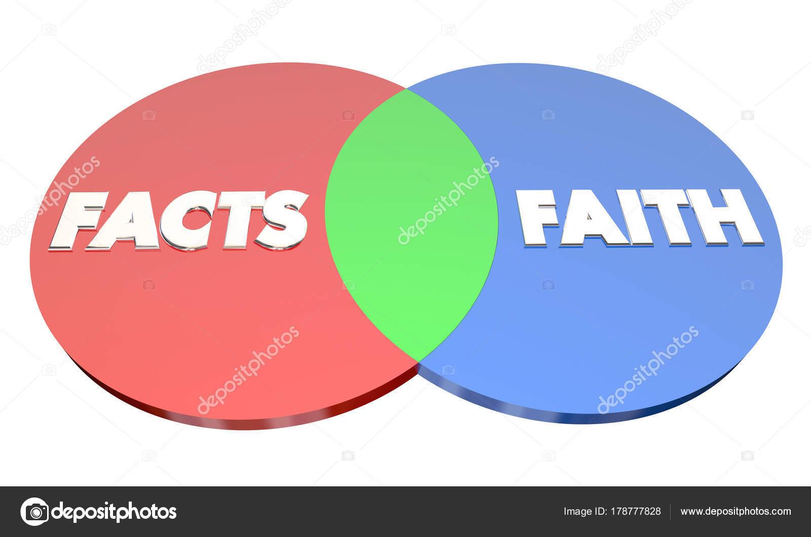 hight resolution of diagrama de venn hechos vs fe foto de stock