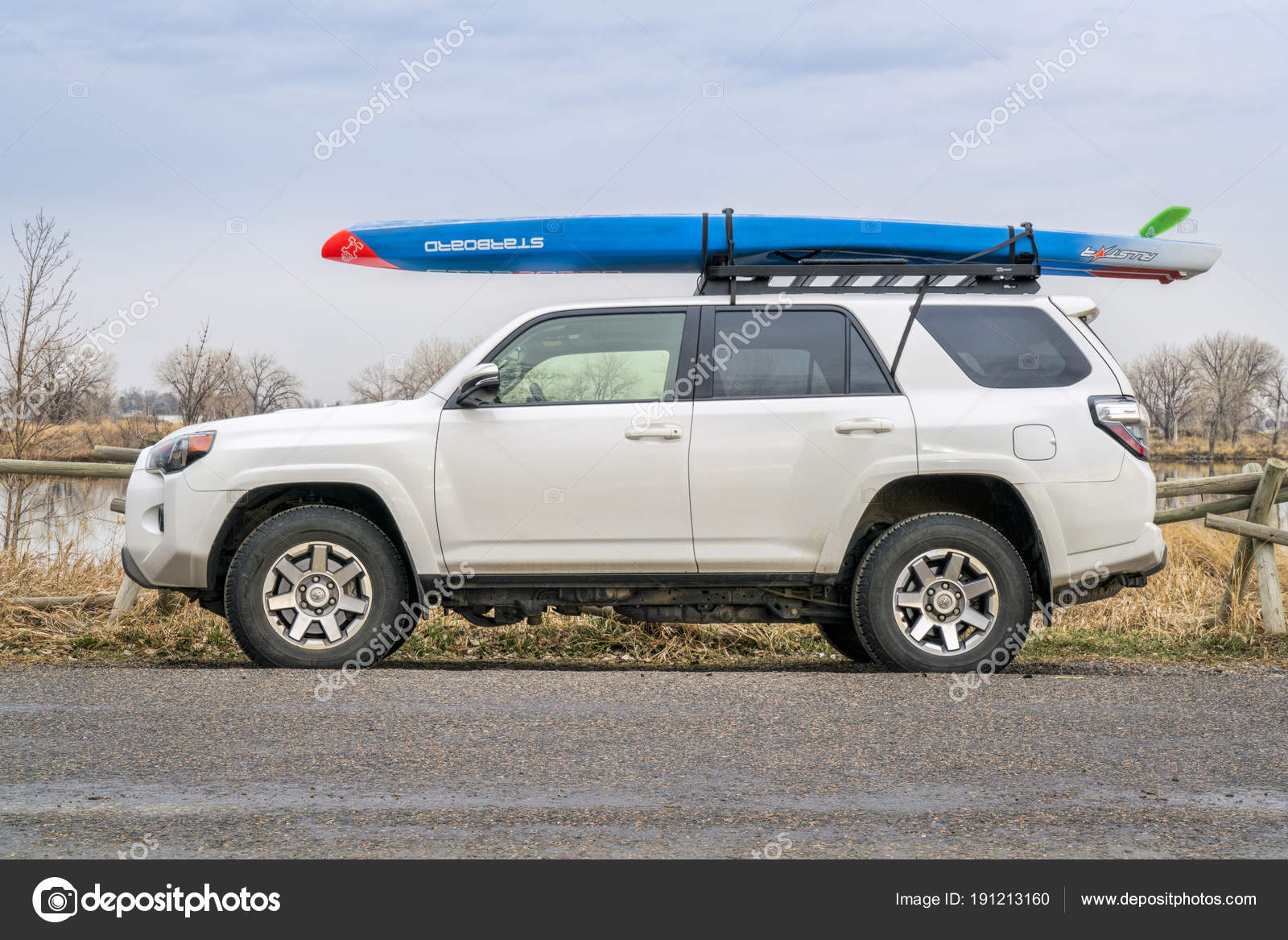 racing paddleboard on roof of toyota 4runner suv stock editorial photo c pixelsaway 191213160