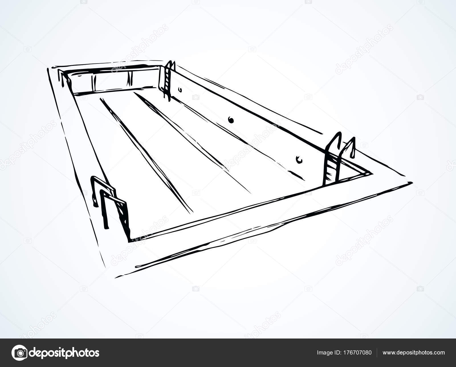 96+ Vector Illustration Hand Drawn Sketch Of Swimming Pool