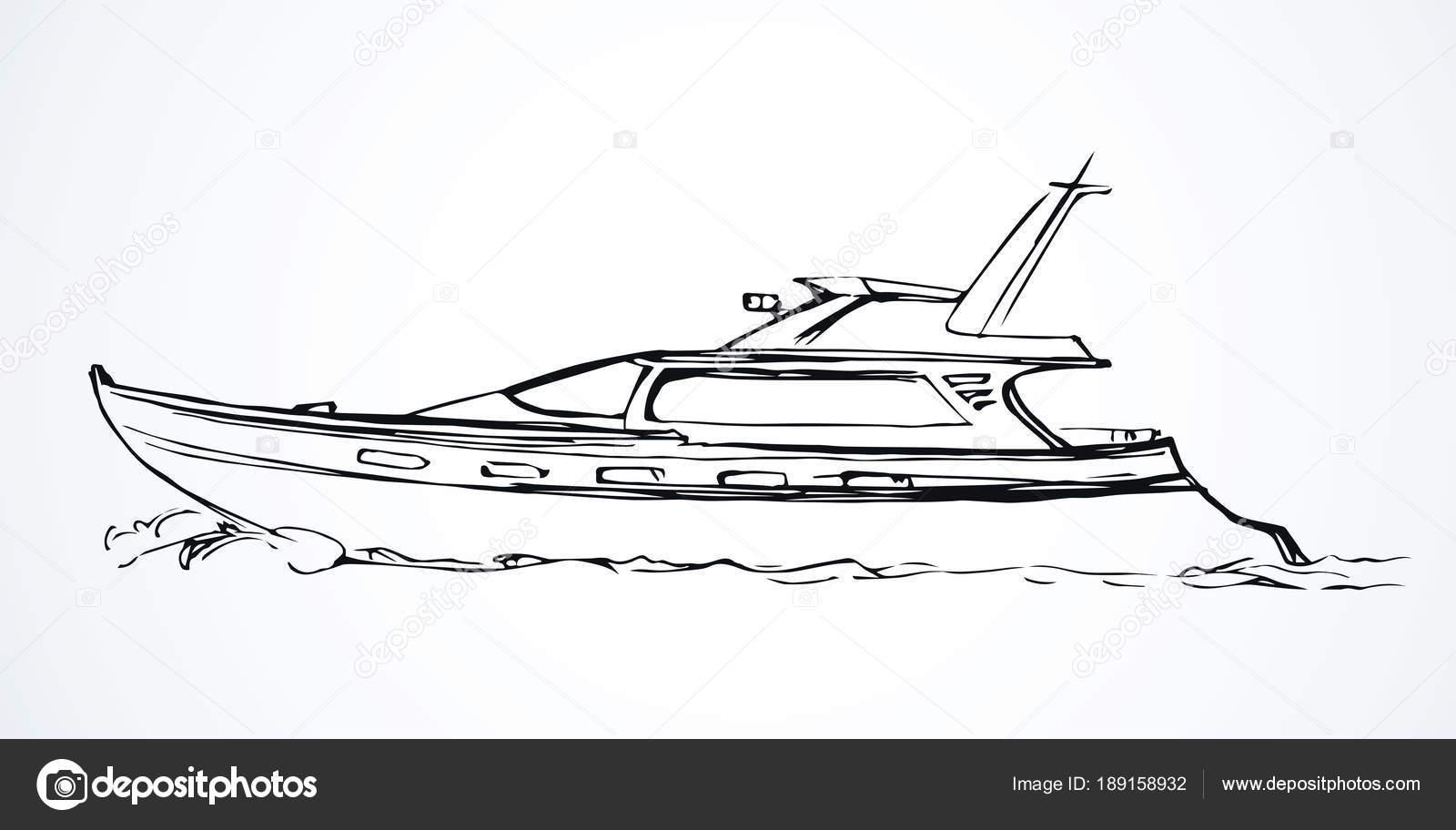 Yacht Dessin Vectoriel