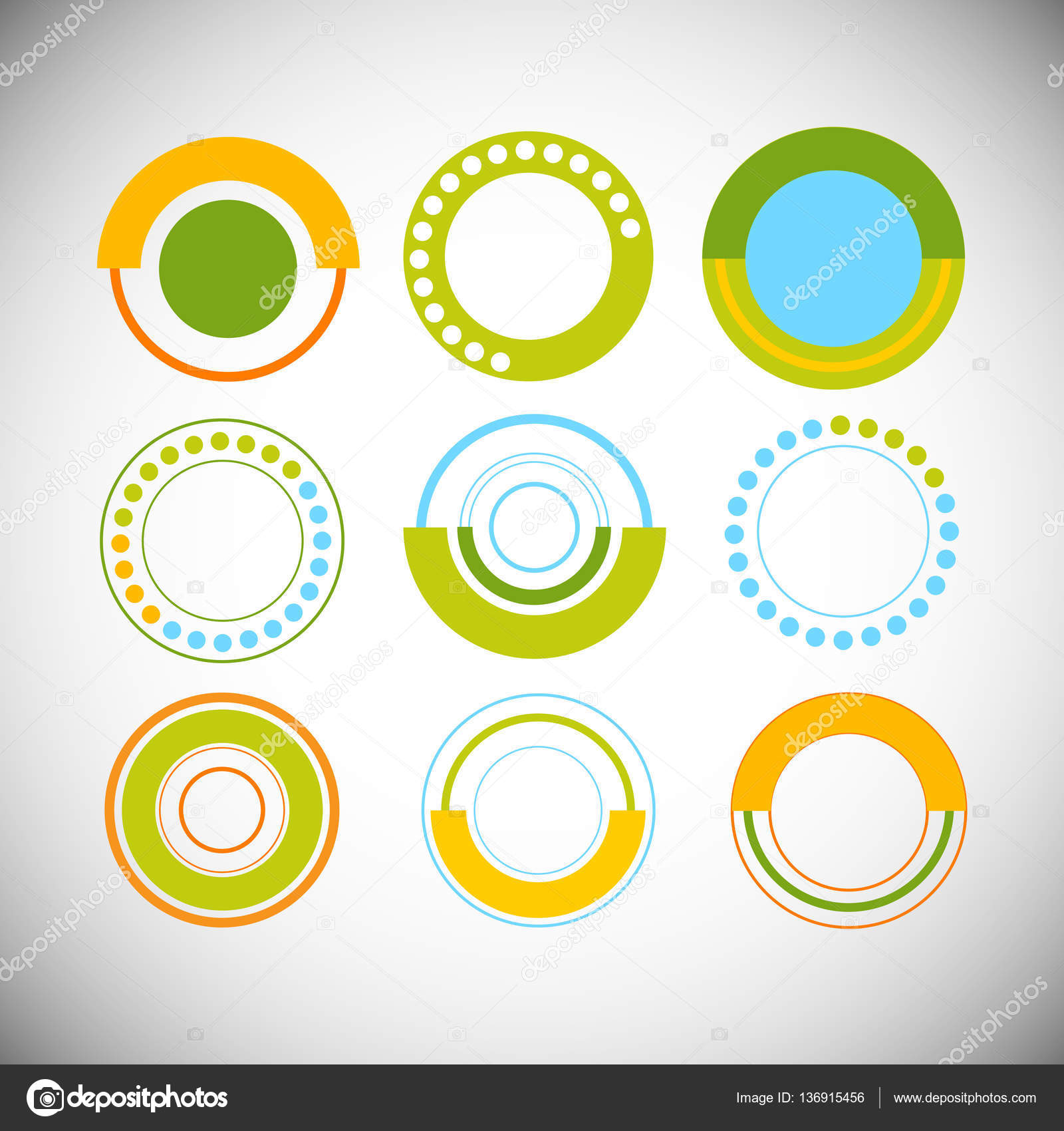 hight resolution of finance pie diagram circle infographic with financial business graph set stock vector