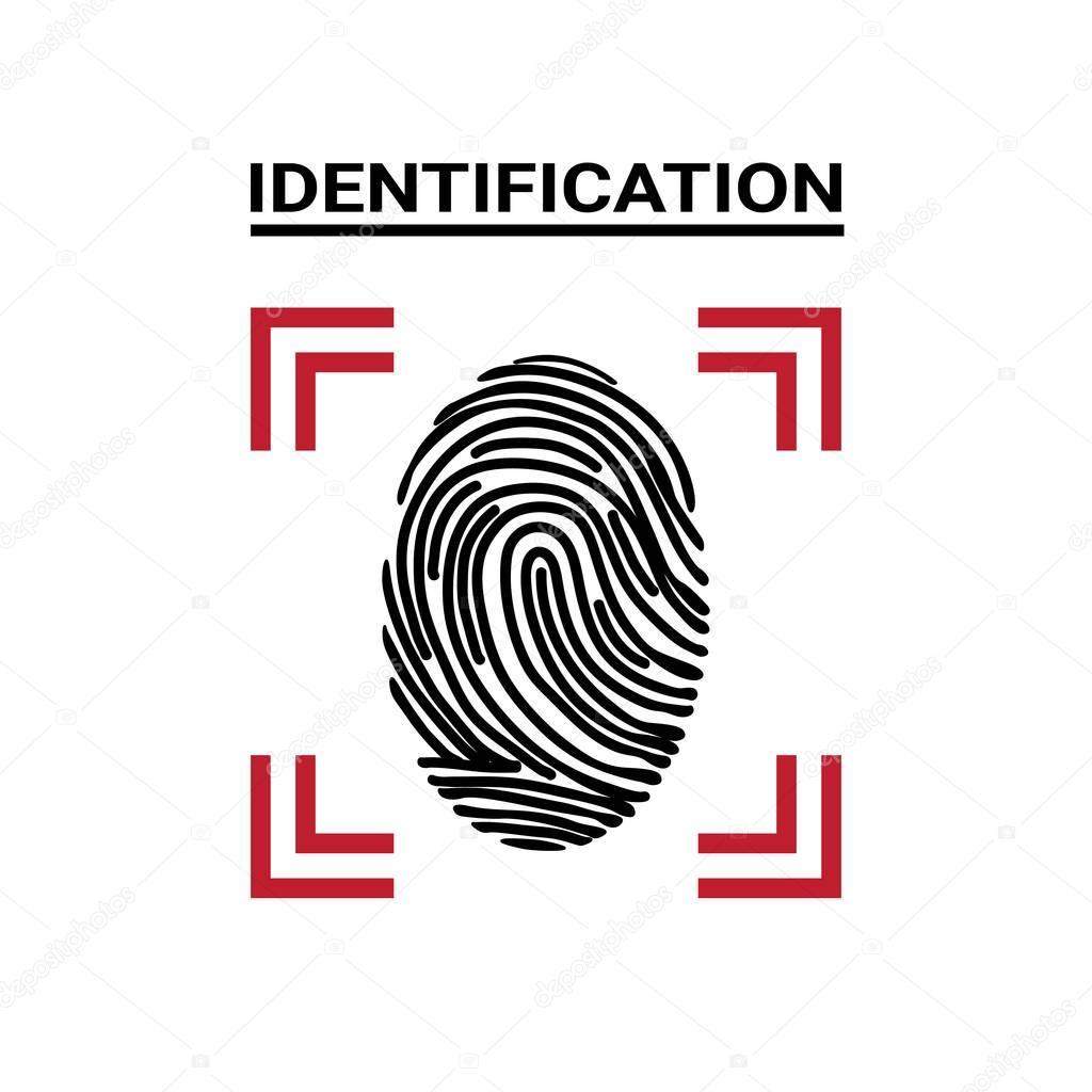 Impressão digital digitalização ícone identificação