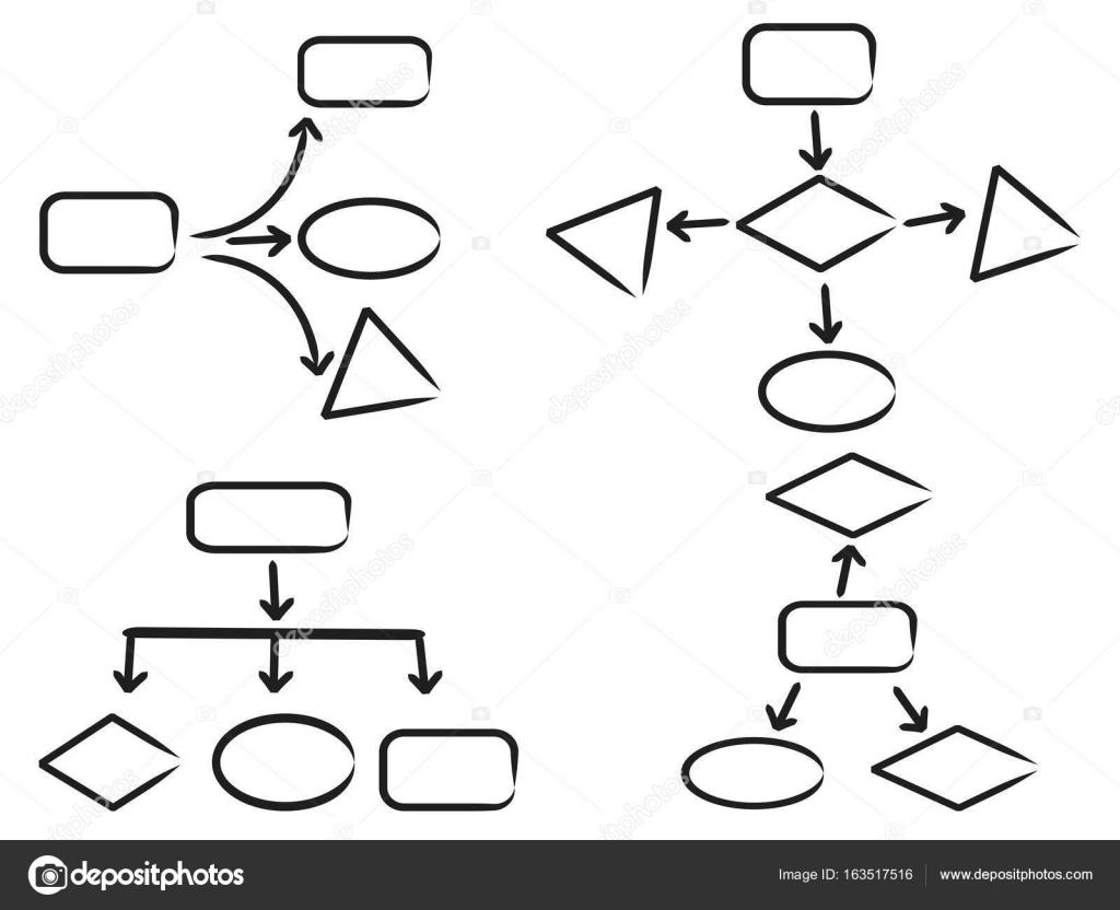 work flow chart symbol — Stock Vector © huhulin #163517516