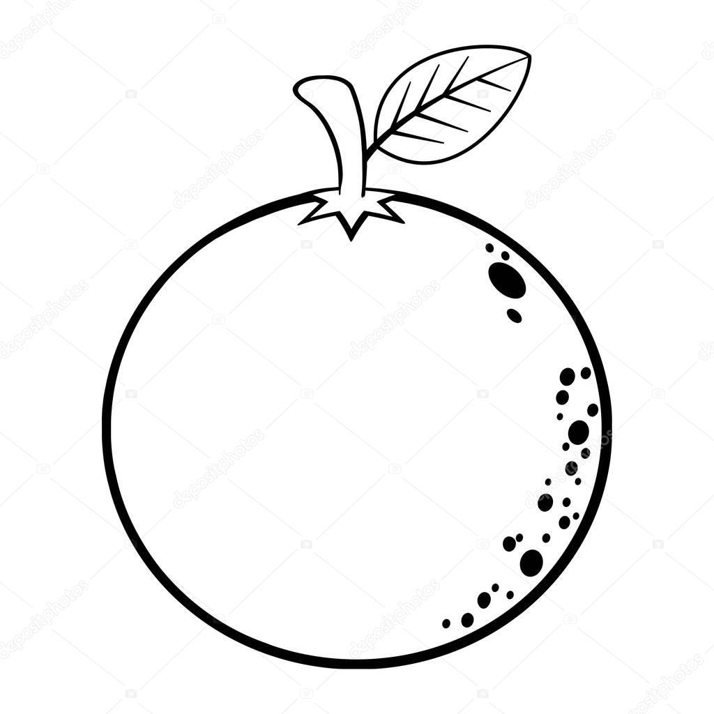Orange frukt kontur ikonen — Stock Vektor © HitToon #169477304