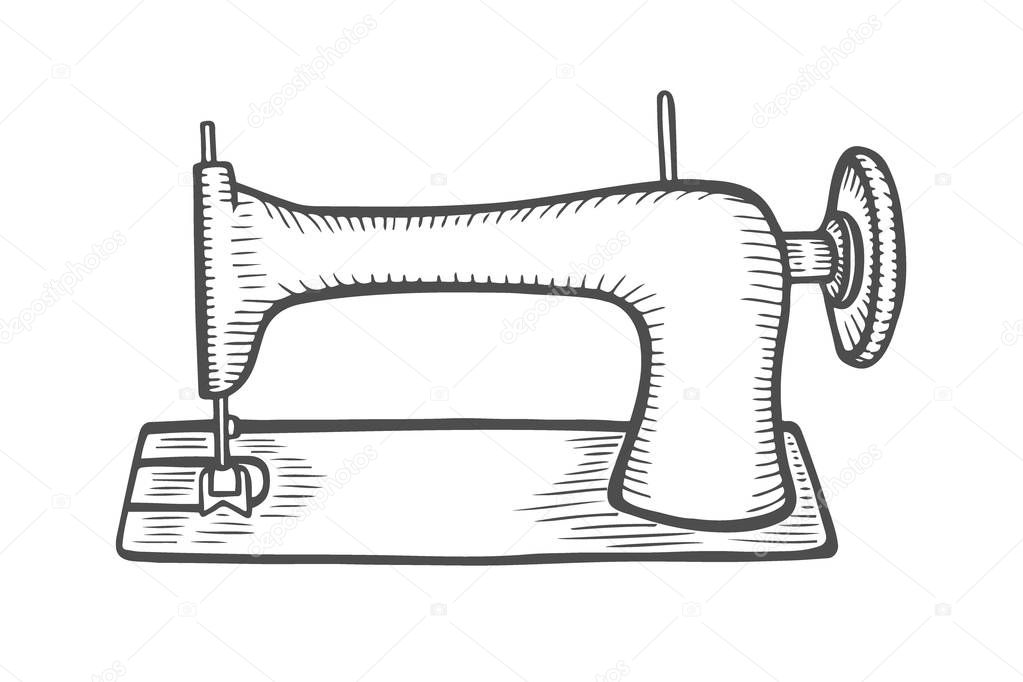 Vintage sewing machine — Stock Vector © frescomovie #195101812