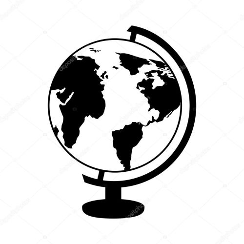 small resolution of globe planet isolated icon stock vector