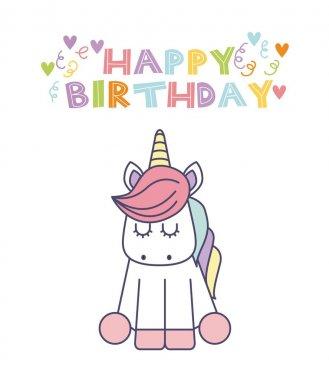 unicorn birthday invitation free vector