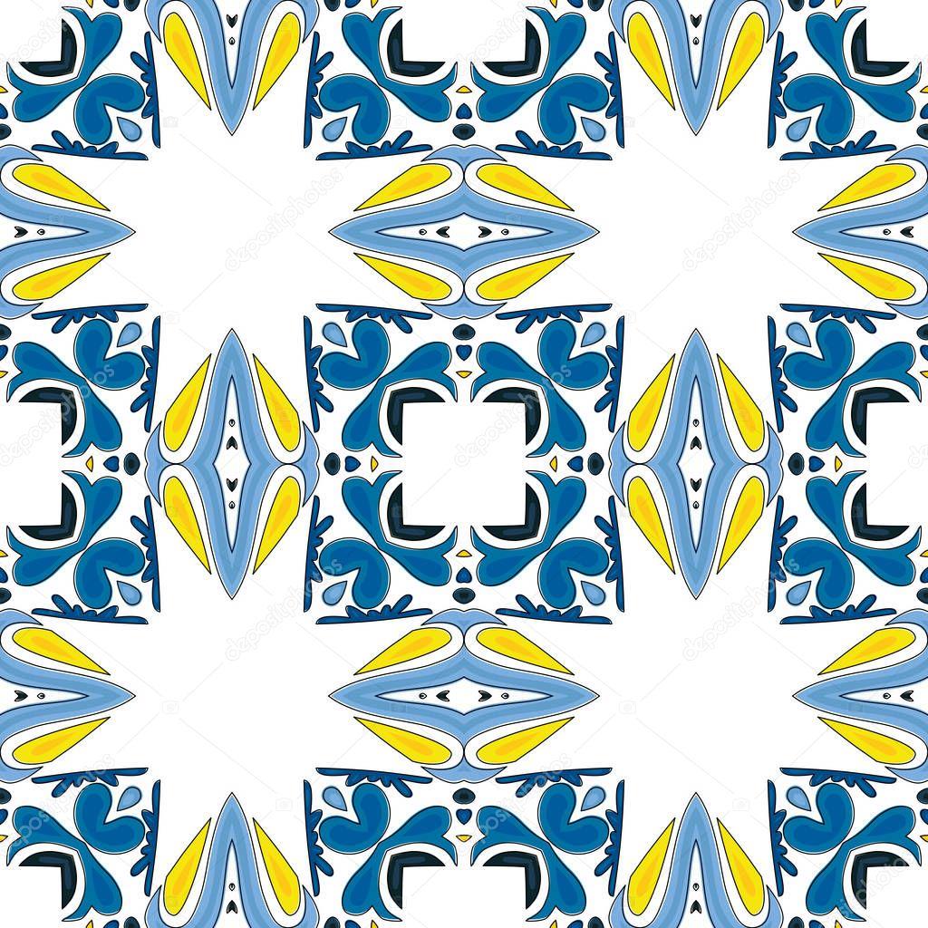 Dibujos azulejos portugueses  Vector de stock  nahhan