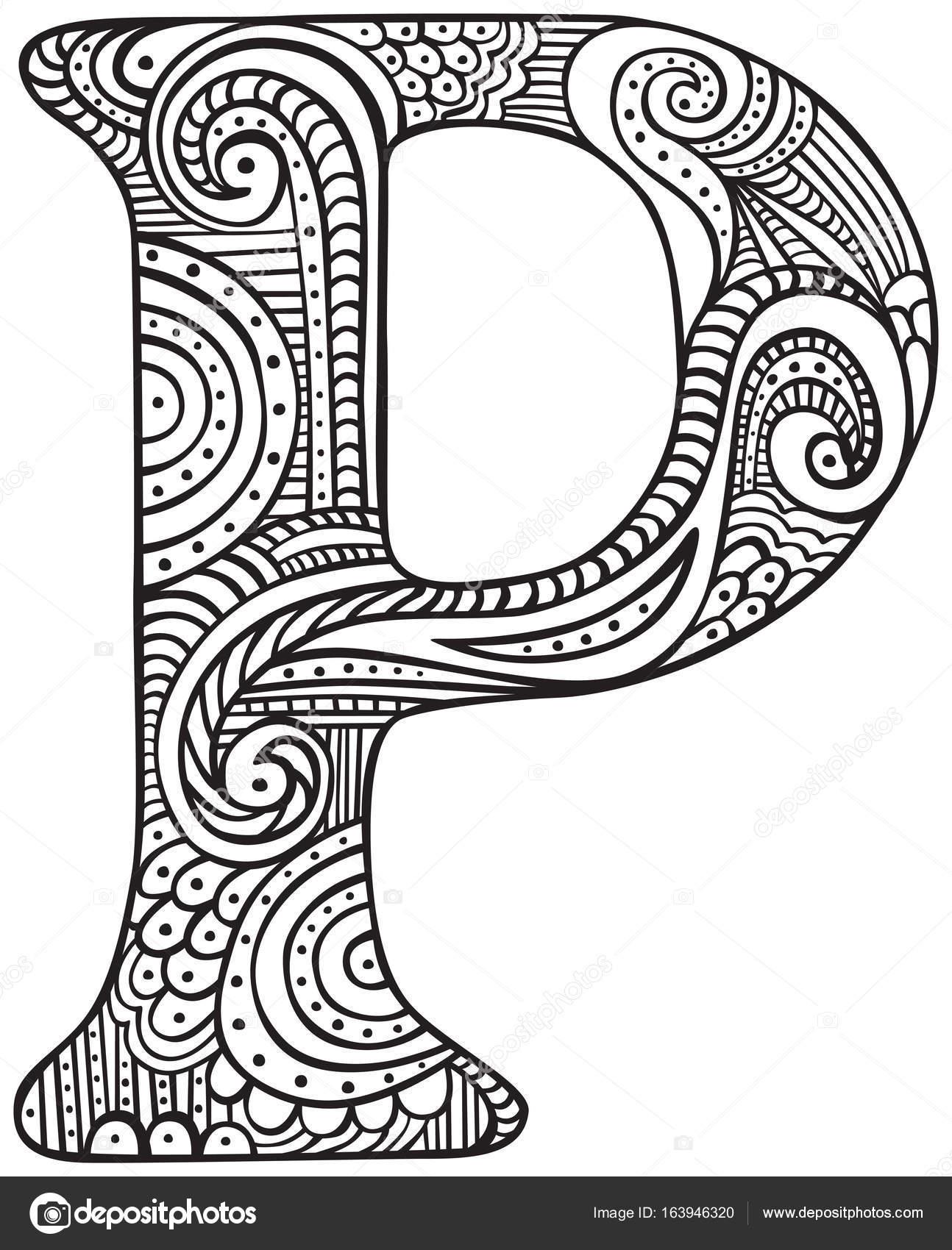 Fantstico Letra P Para Colorear Ideas