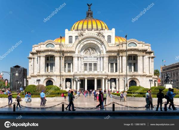 Palace Of Fine Arts Famous Concert Venue Museum And Theater In Mexico City Stock