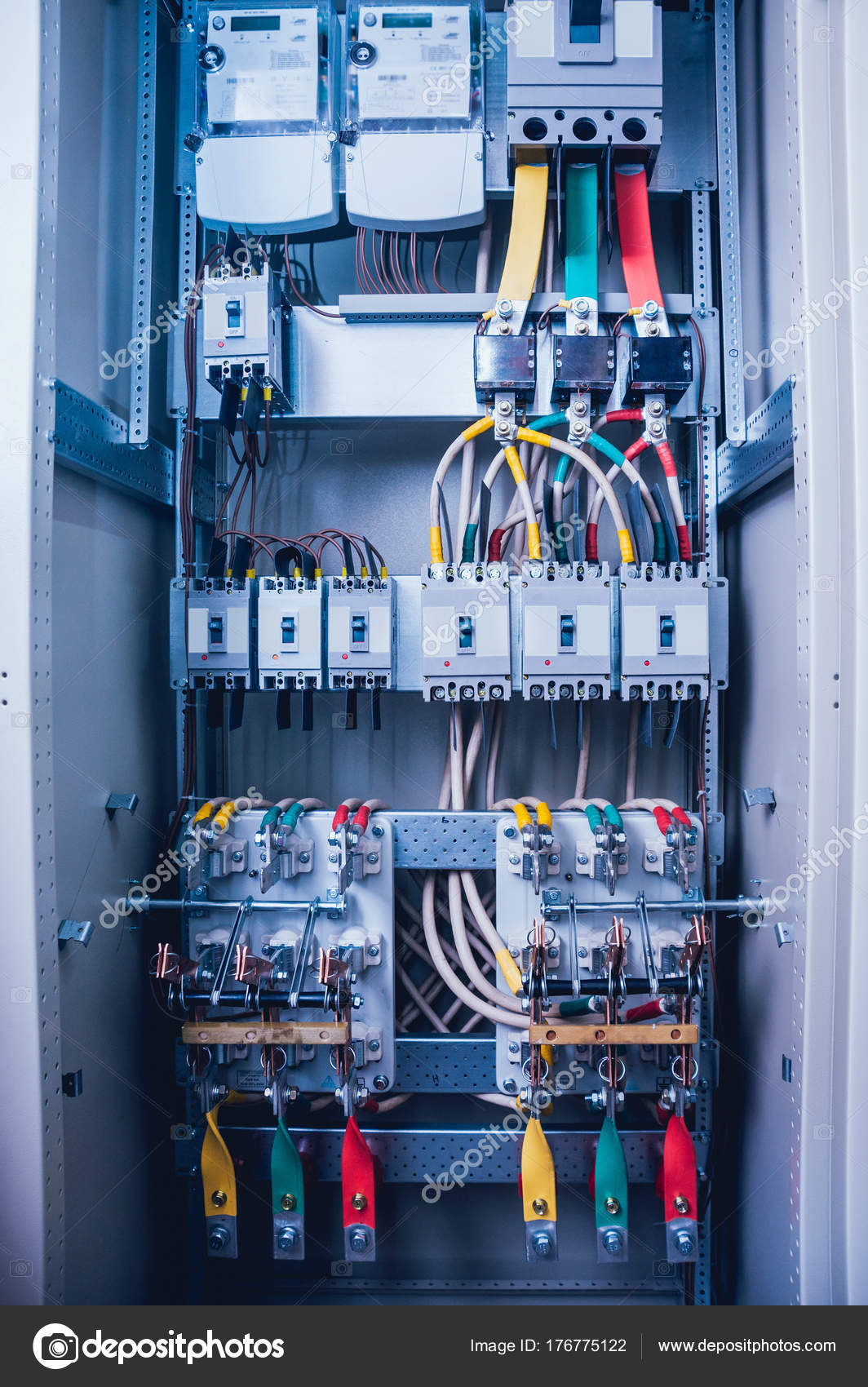 hight resolution of wires switches electric box electrical panel fuses contactors stock photo