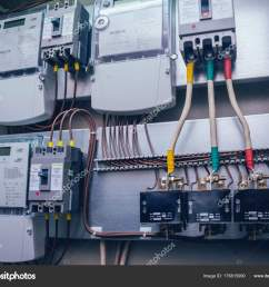wires switches electric box electrical panel fuses contactors stock photo [ 1600 x 1306 Pixel ]