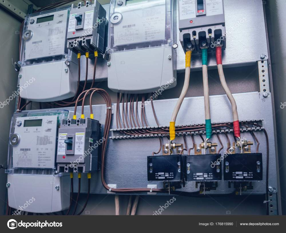 medium resolution of wires switches electric box electrical panel fuses contactors stock photo
