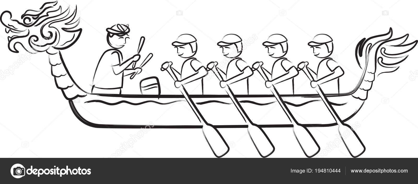 Disegno Dell Illustrazione Del Dragon Boat Festival Nello