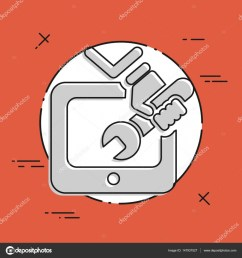 tv repair icon stock vector [ 1600 x 1700 Pixel ]