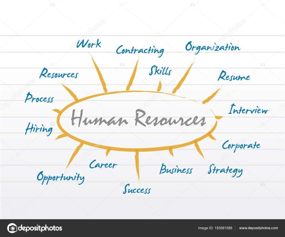 medium resolution of hr human resources diagram model stock photo