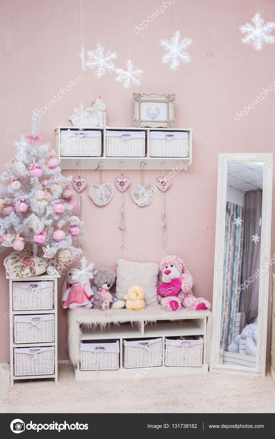 Weihnachtsbaum Im Shabby Chic Stil Wohnzimmer