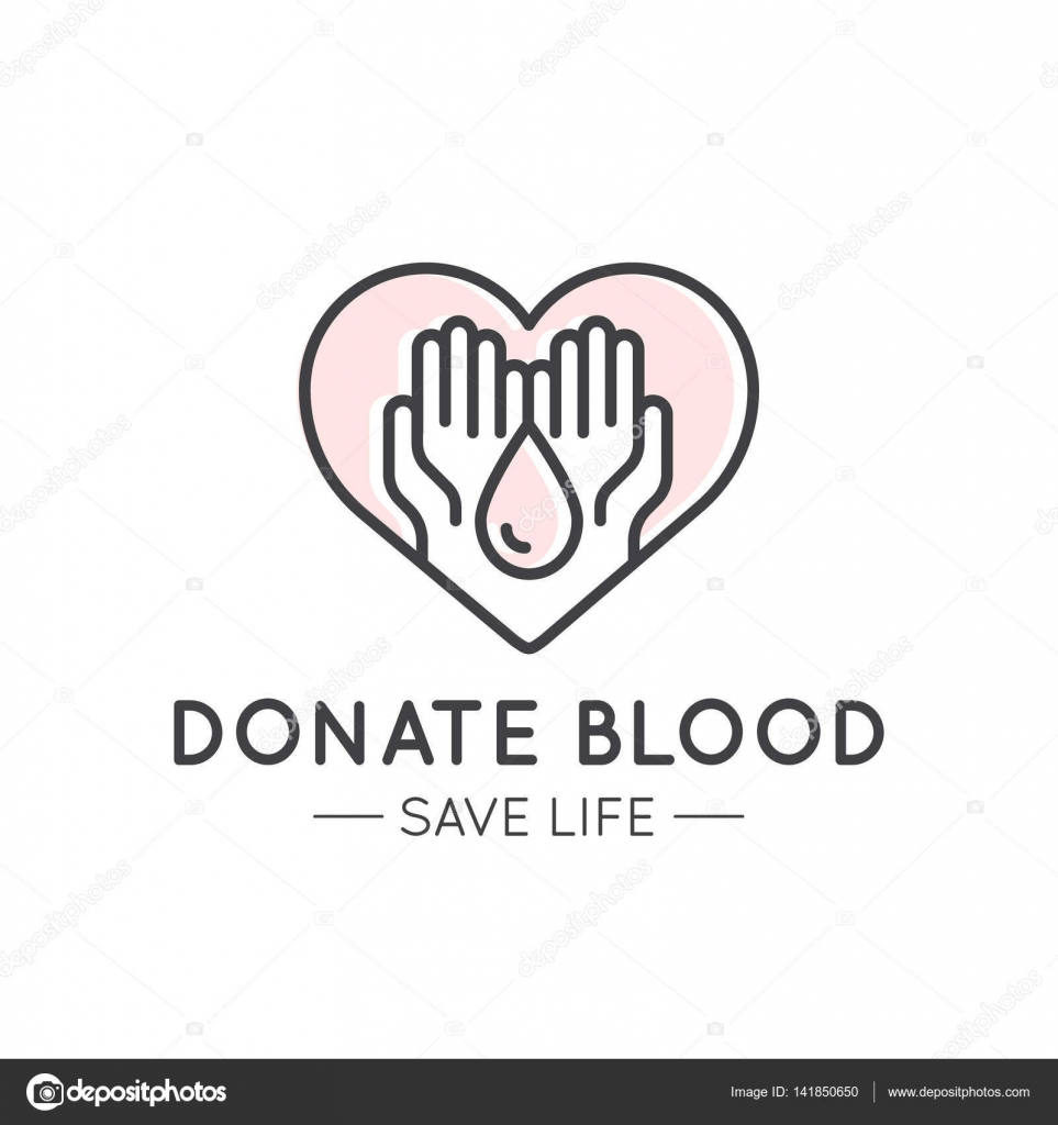 Logo or Poster Template with Charity and Fundraising