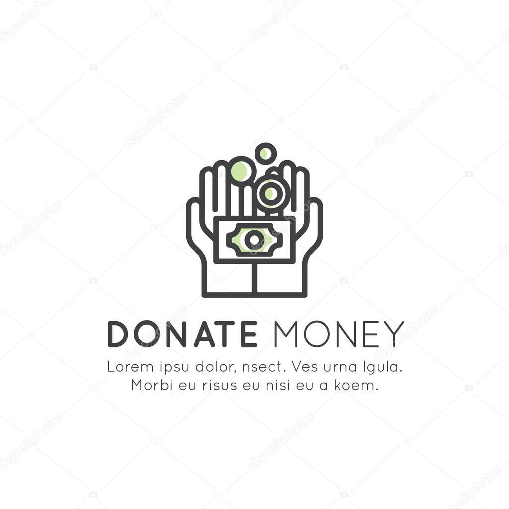 Card or Poster Template with Charity and Fundraising