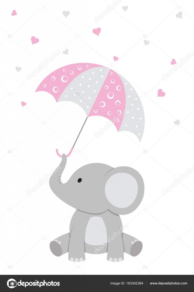 Little Peanut Girl Wallpaper Vector Elefantes Baby Shower Beb 233 Elefante Rosa Baby