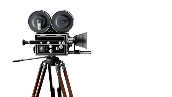 Vintage movie camera. 3d — Stock Photo © maxxyustas #13851834