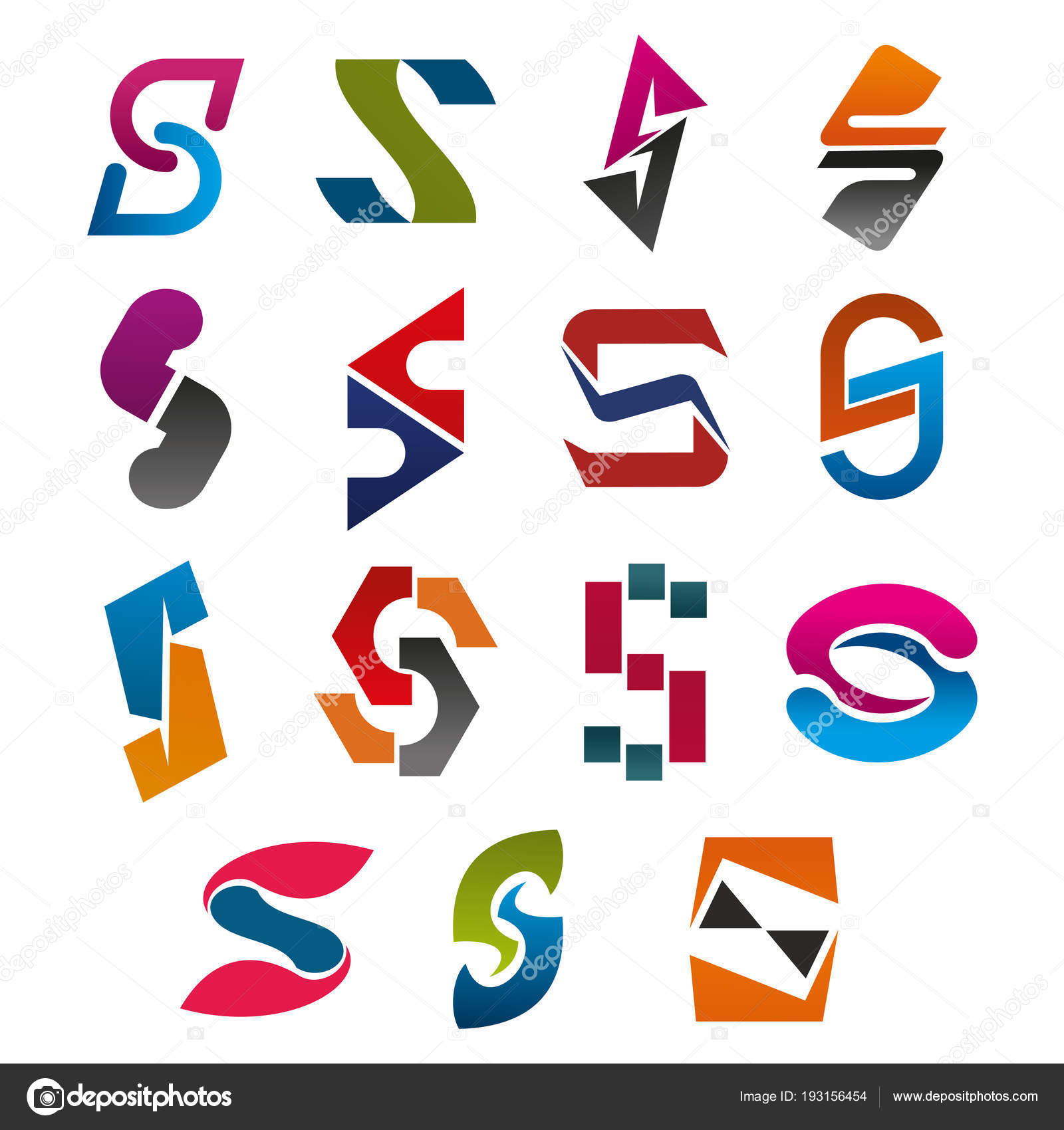 s letter vector icons