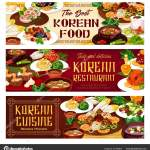 Korean Restaurant Food Of Korea National Cuisine Stock Vector C Seamartini 317744614
