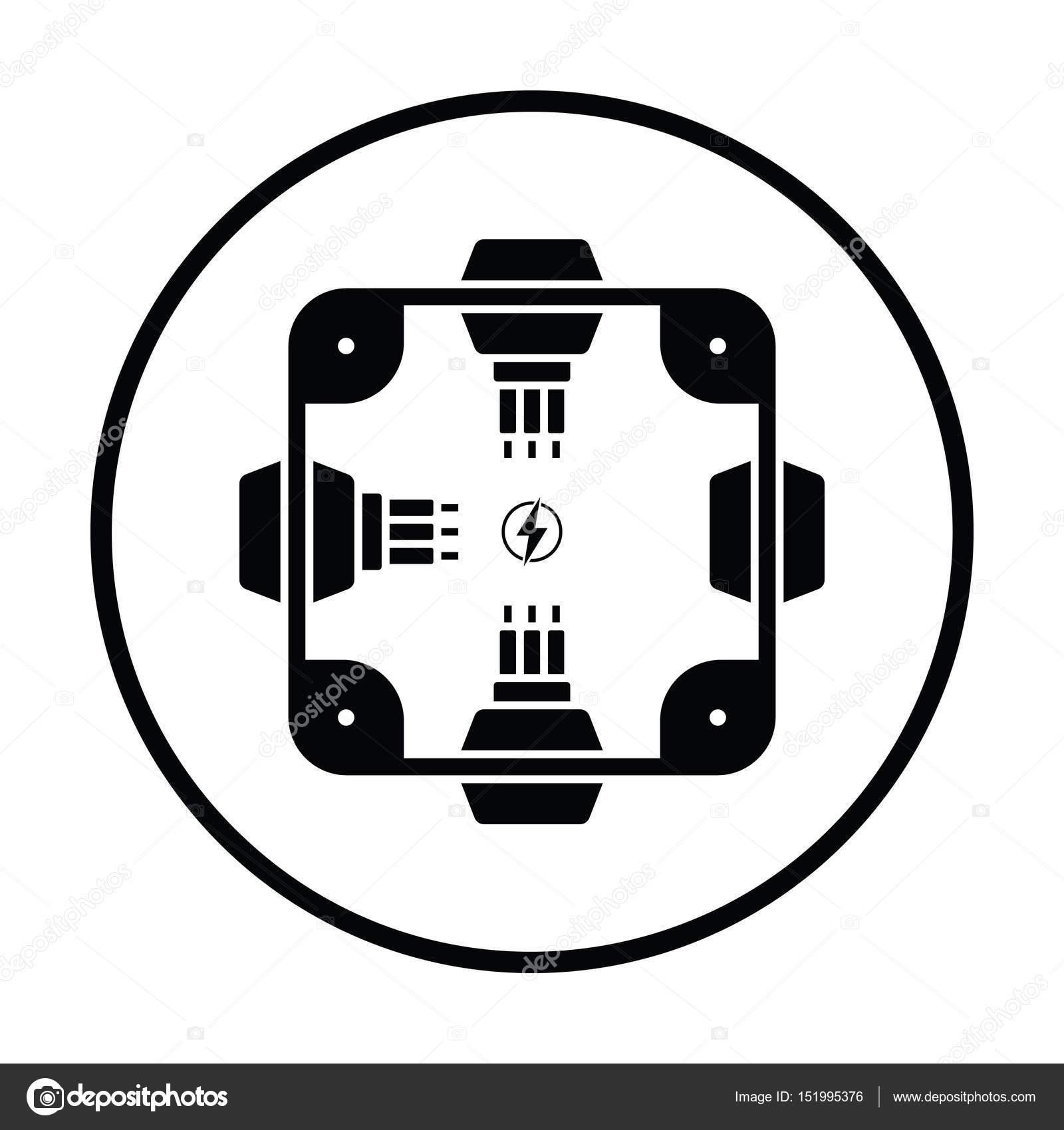 Elektrischer Verteilerkasten Symbol