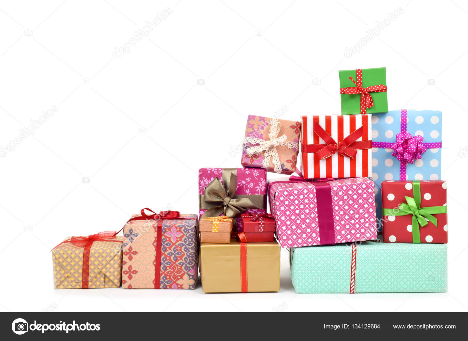 gifts wrapped in different