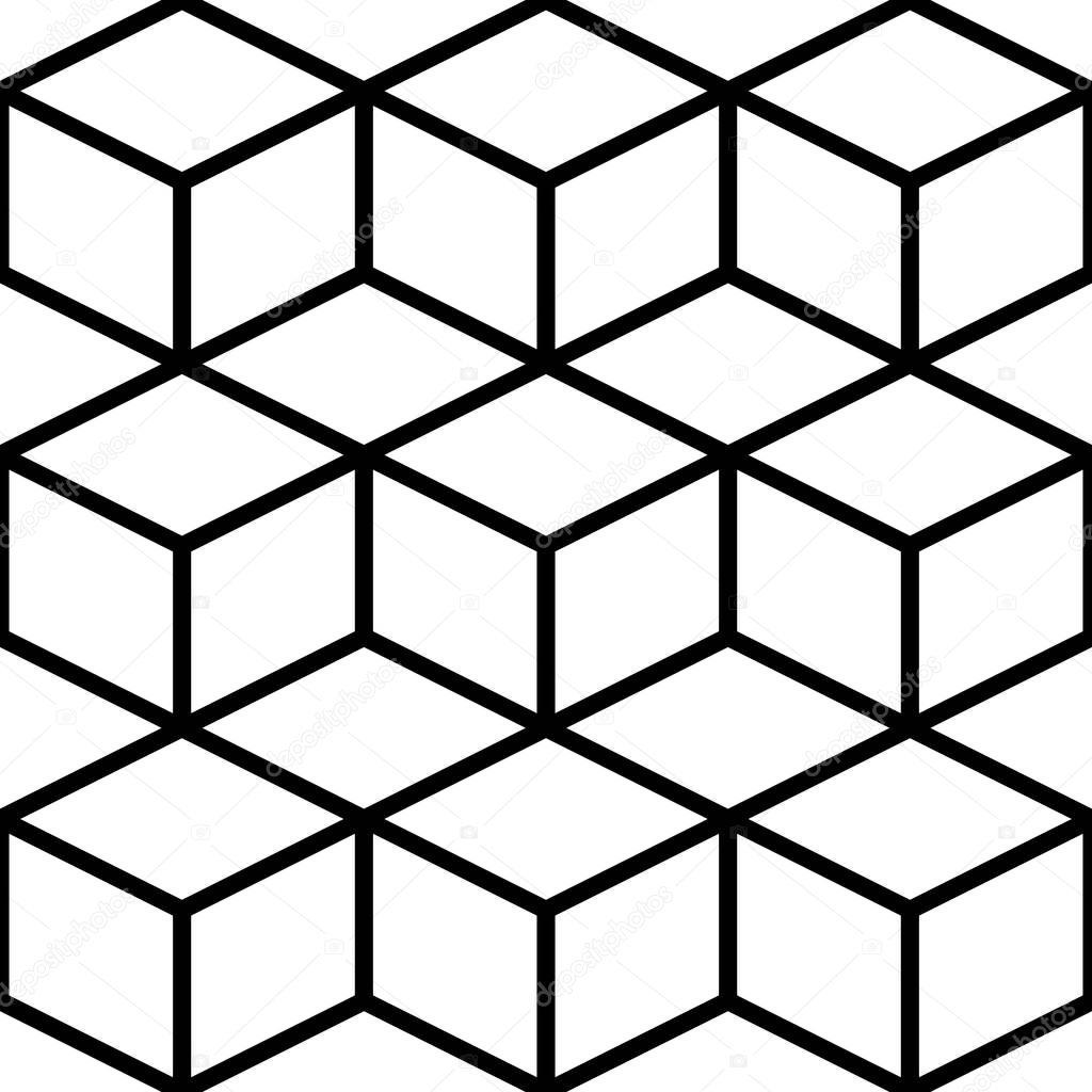 patrón cubo transparente — Archivo Imágenes Vectoriales