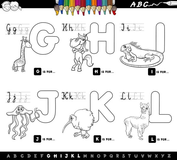 Letter W. Cartoon alphabet for children. Watermelon, whale
