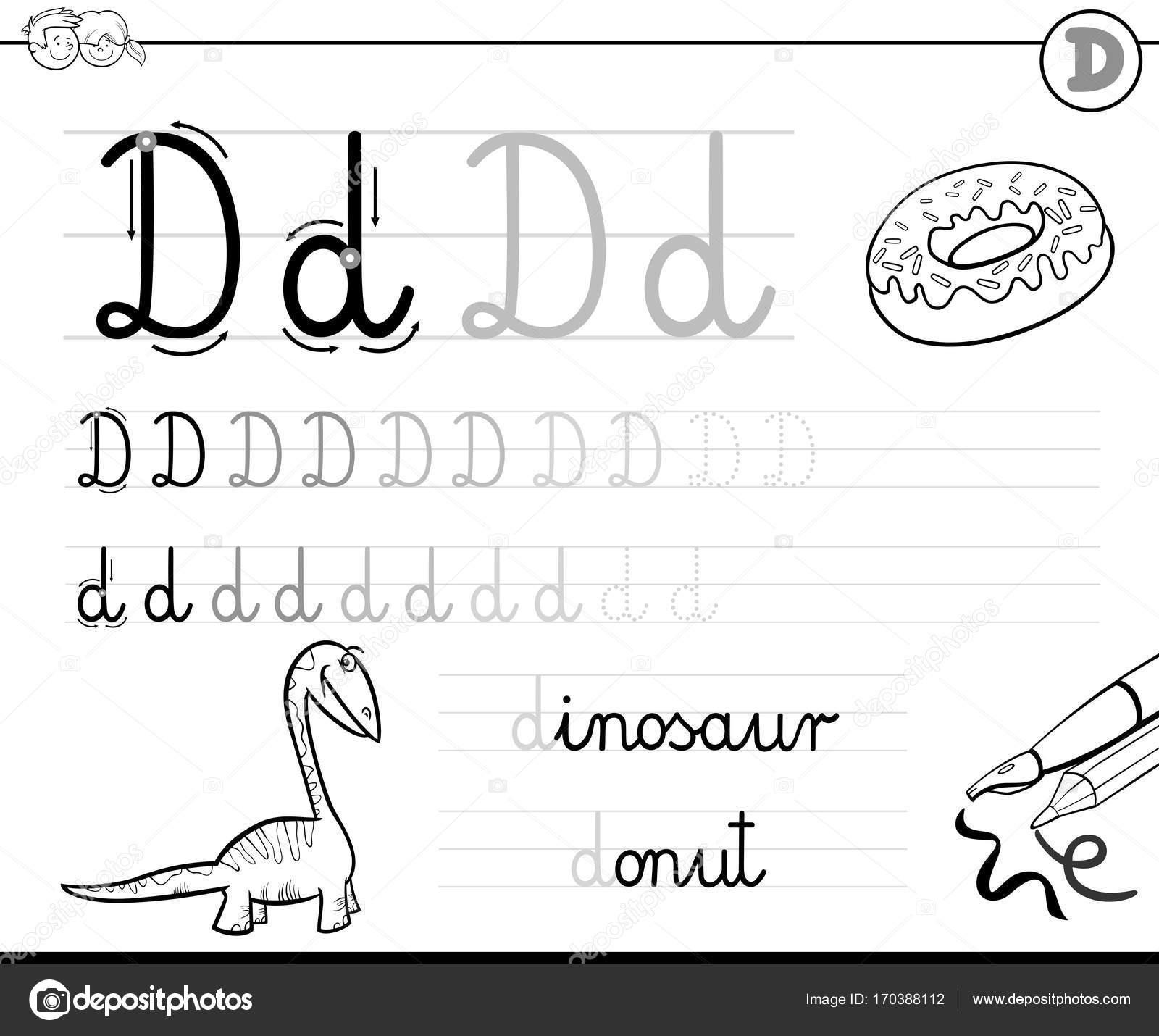 Aprender A Escribir El Libro De La Letra D Para Ninos