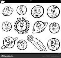 Pianeti Cartoon caratteri Set libro da colorare ...