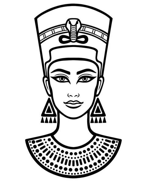 Black Nefertiti Drawing : black, nefertiti, drawing, Nefertiti, Vector, Images,, Royalty-free, Vectors, Depositphotos®